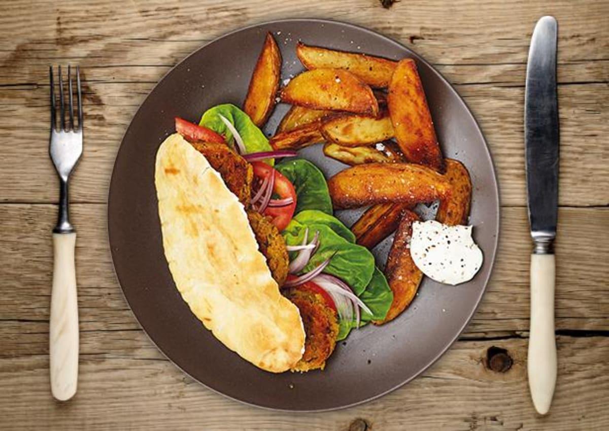 Falafel in Pita Taschen
