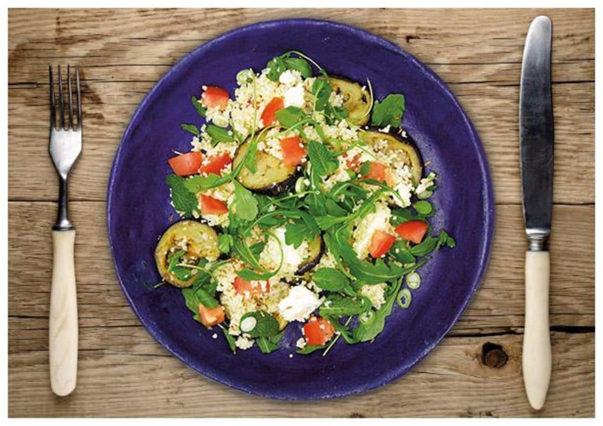 Mediterraner Auberginen-Couscous-Salat