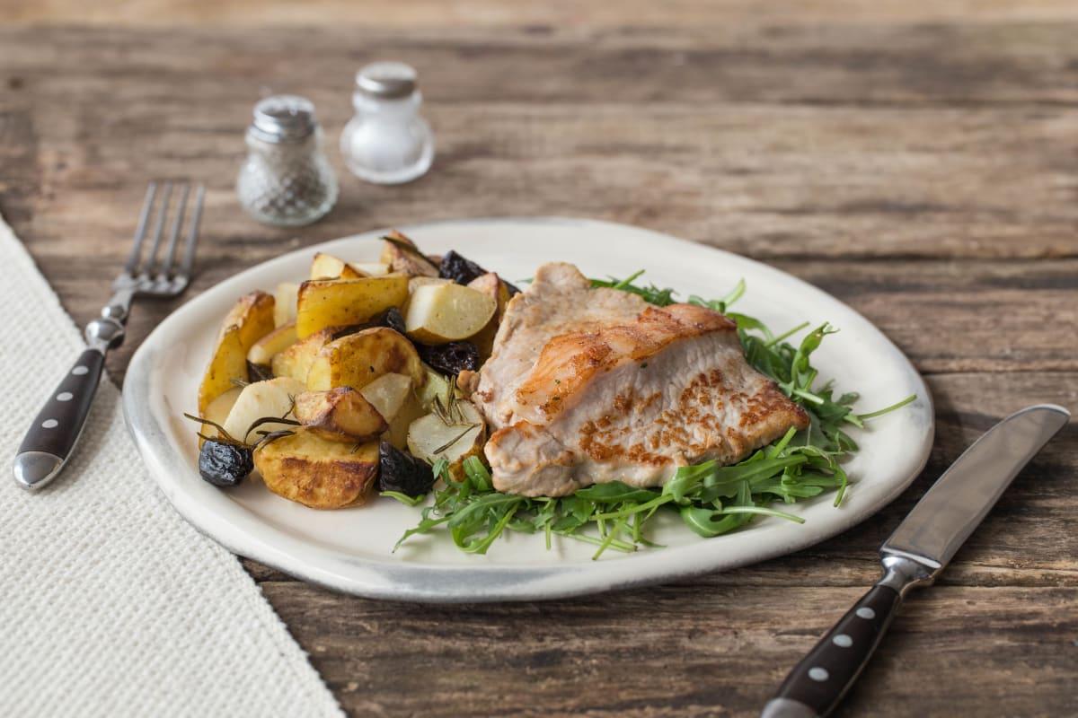 Rosemary Pork with Fragrant Pear & Prunes