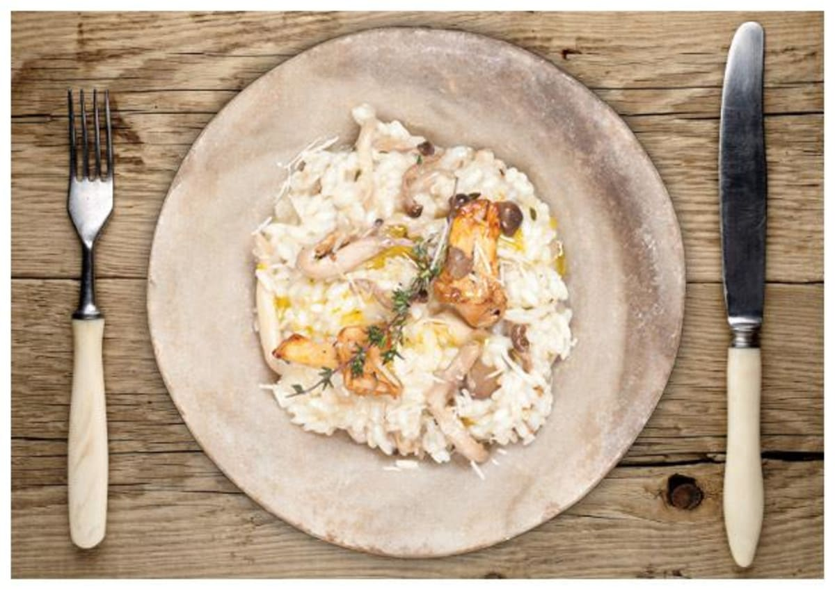 Wandering Forager's Wild Mushroom Risotto