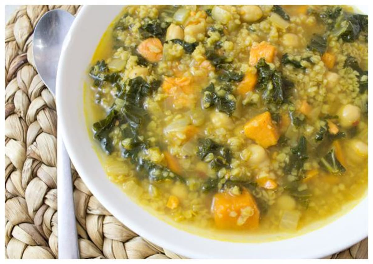 Curried Freekeh Soup