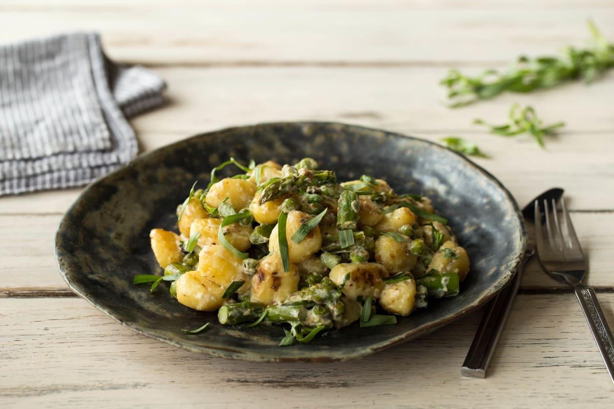 Pea & Asparagus Gnocchi