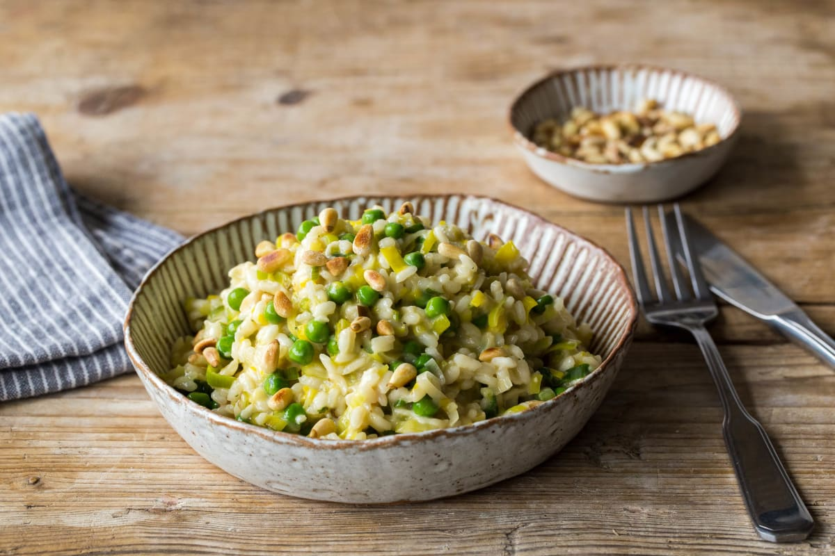 Leek and Pea Risotto
