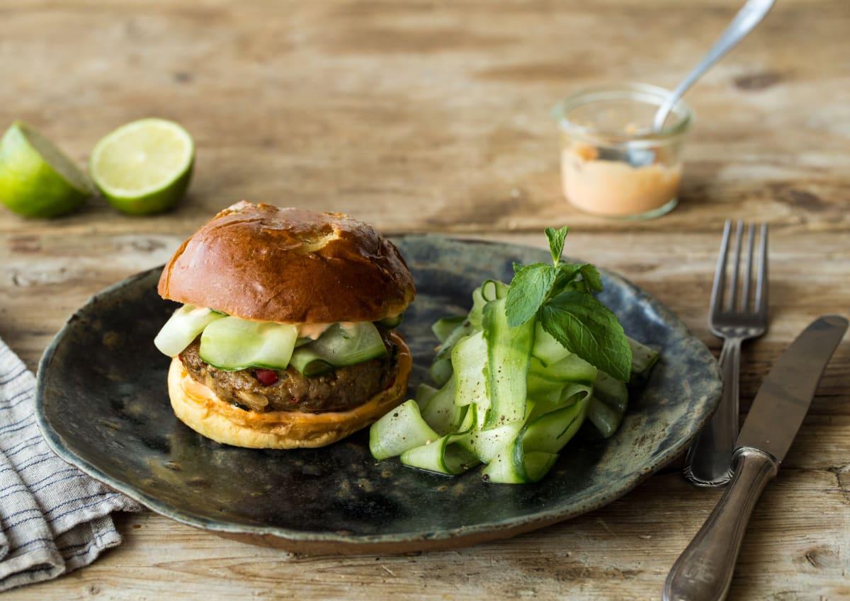 Thai Pork Laarb Burger