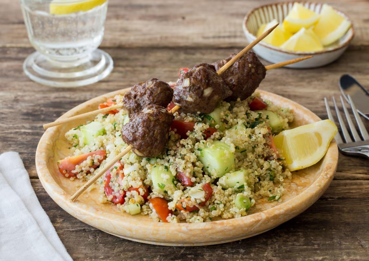 Lebanese Beef Skewers