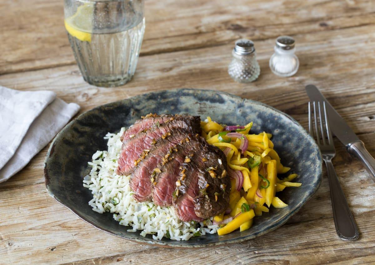 Seared Serrano Steak