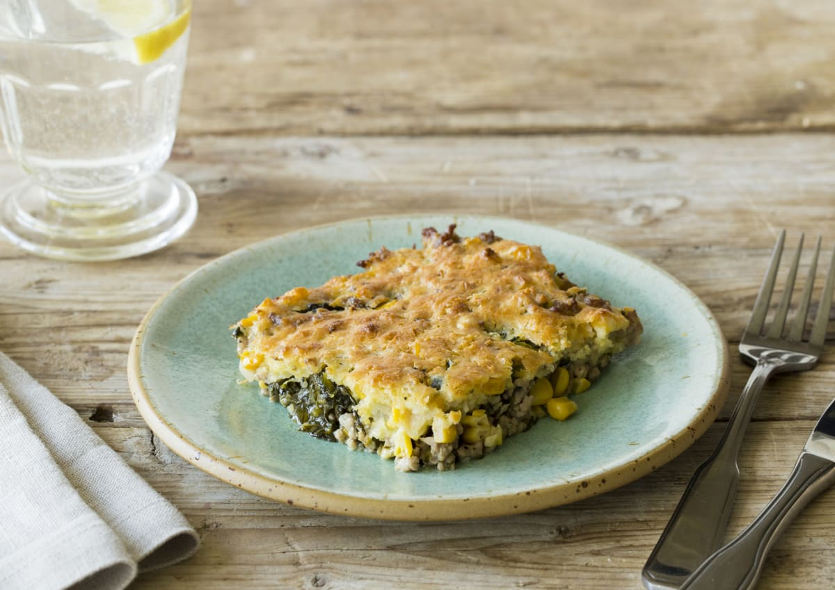 Southern Cornbread Pie