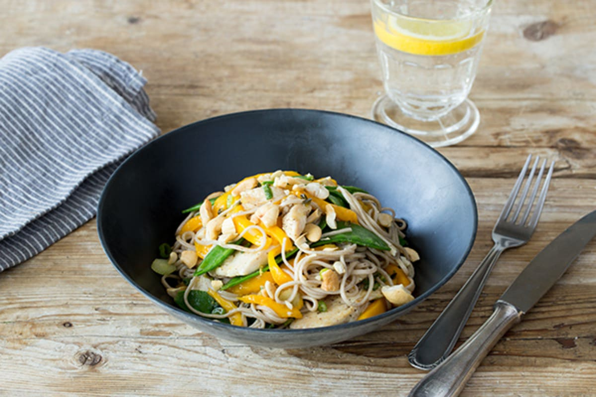 Chicken and Cold Soba Noodle Salad