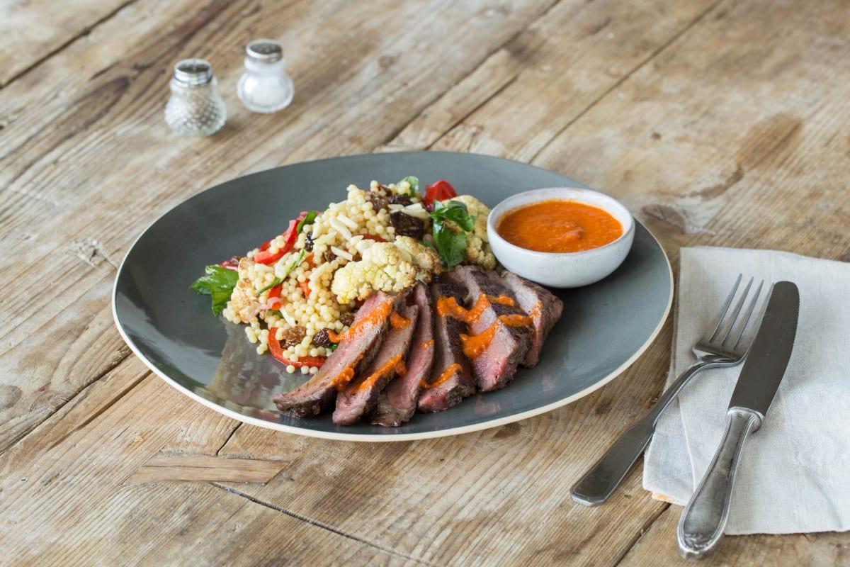 Blackened Steak and Roasted Cauliflower Salad