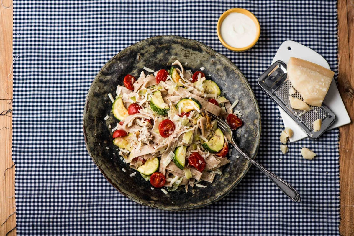 Speedy Smoked Mackerel Pasta