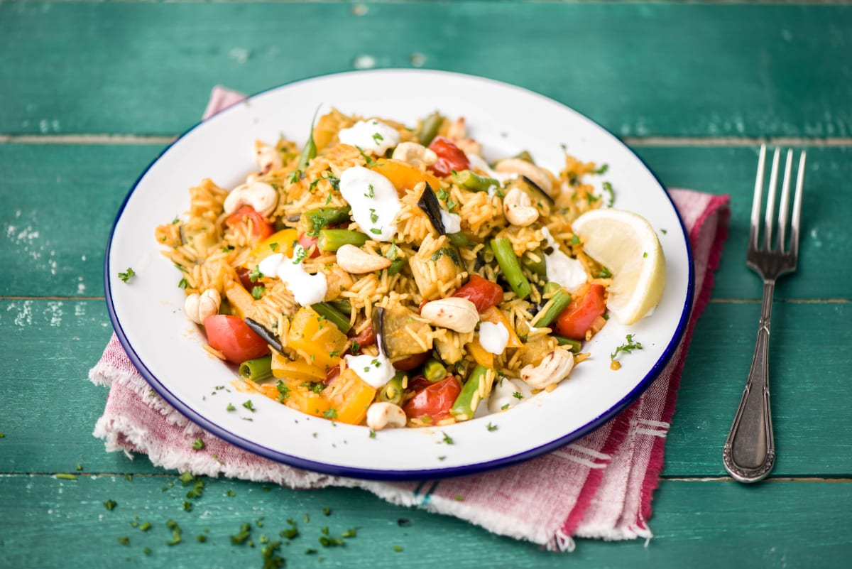 Leckere Gemüse-Paella