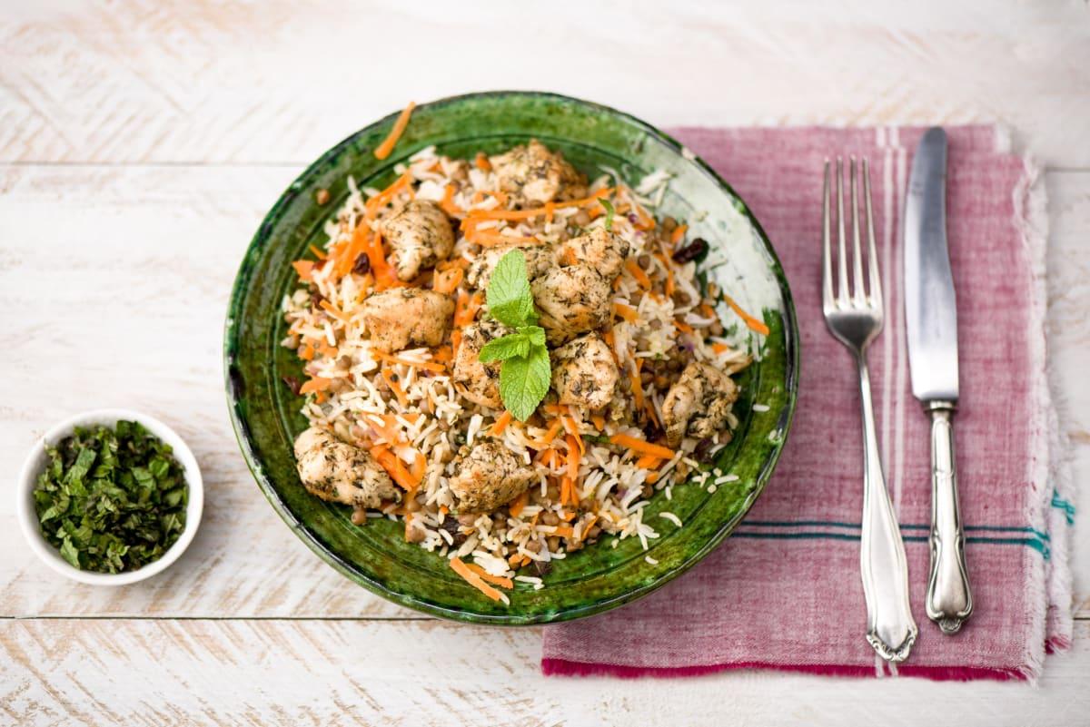 Za'atar Chicken with Rainbow Rice Salad