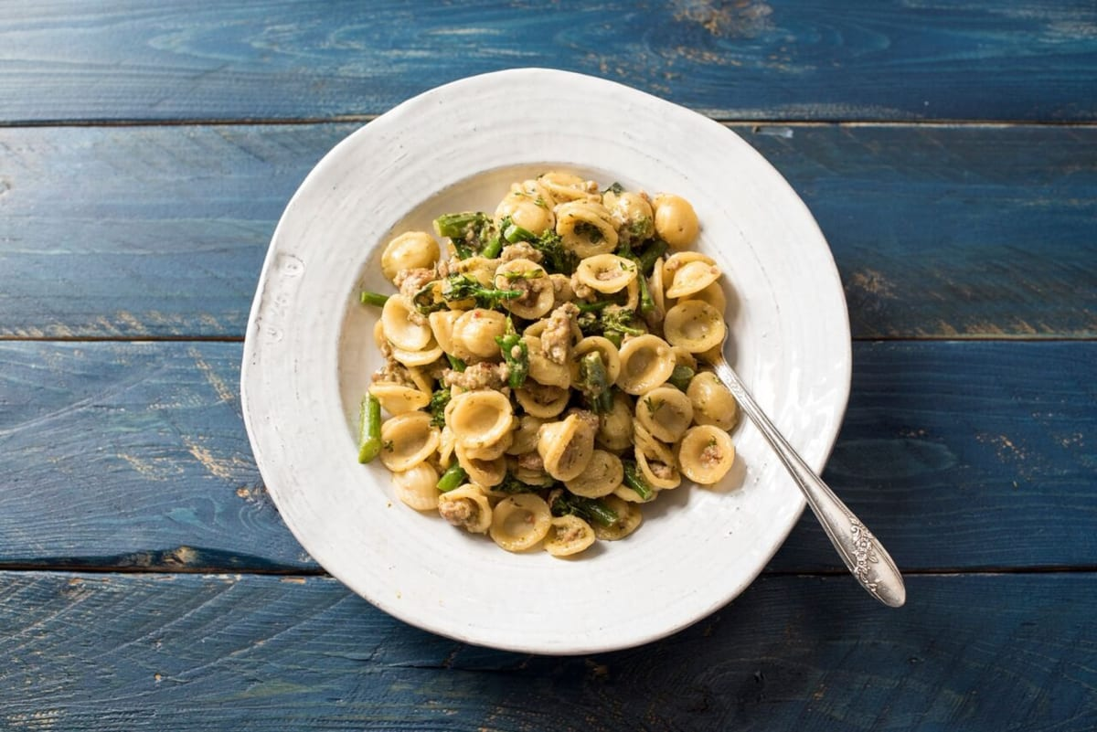 Sausage and Broccolini Orecchiette