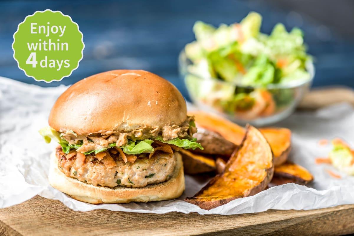 Pork Satay Burgers