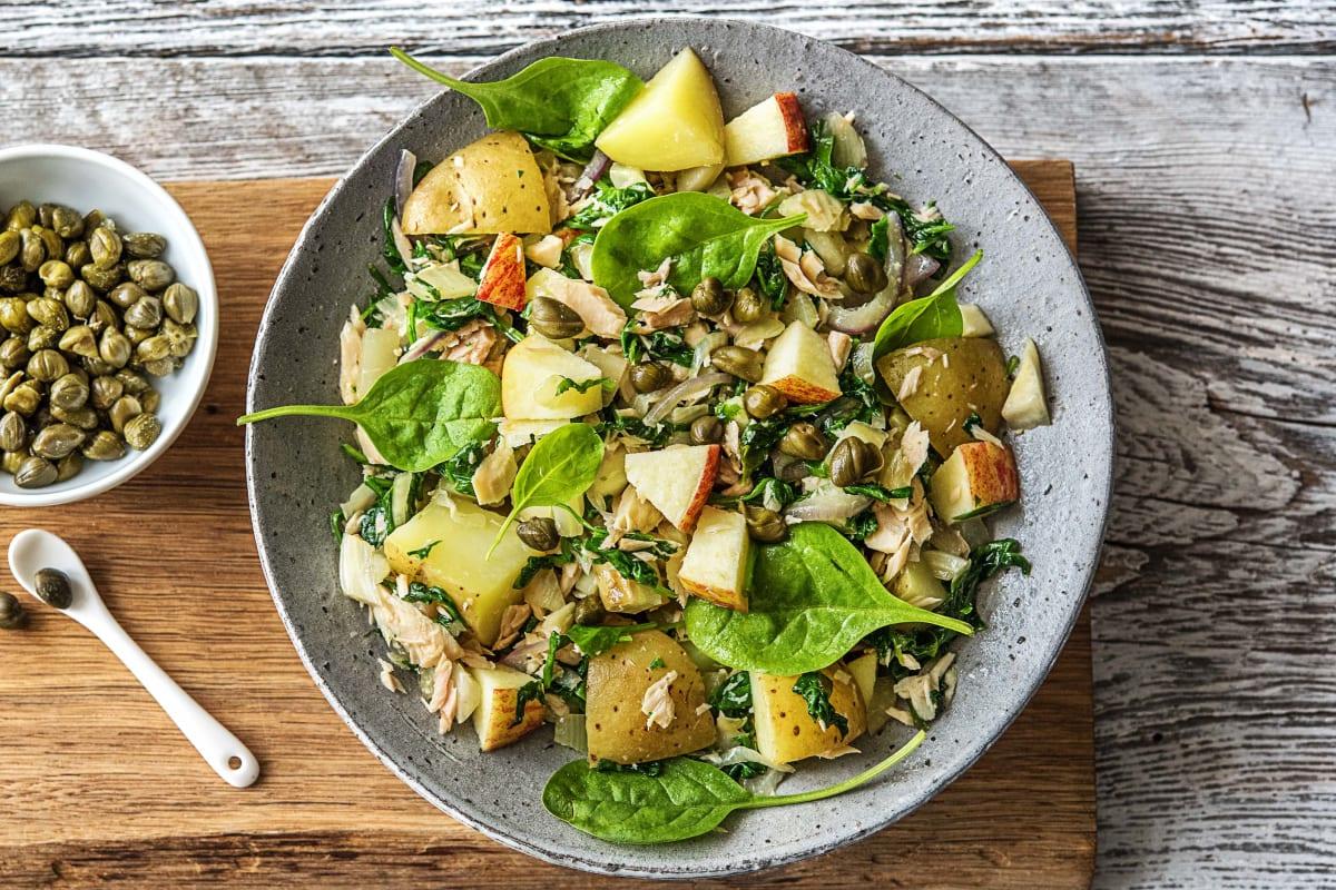Salade met tonijn en Opperdoezer Ronde aardappel