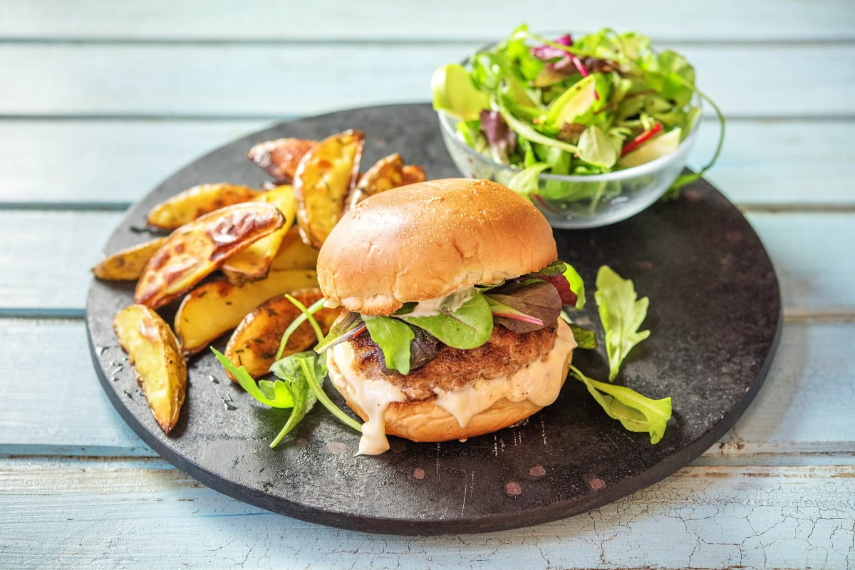 Pork and Apple Burger