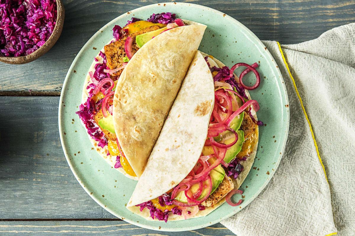 Scharfe Tacos mit mariniertem Tofu,