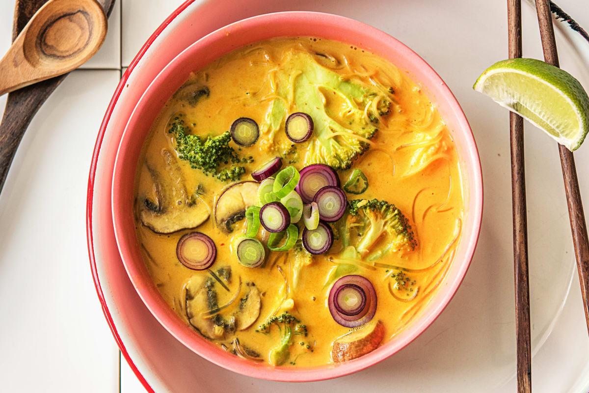 Hello Panang! Curry-Kokos-Suppe