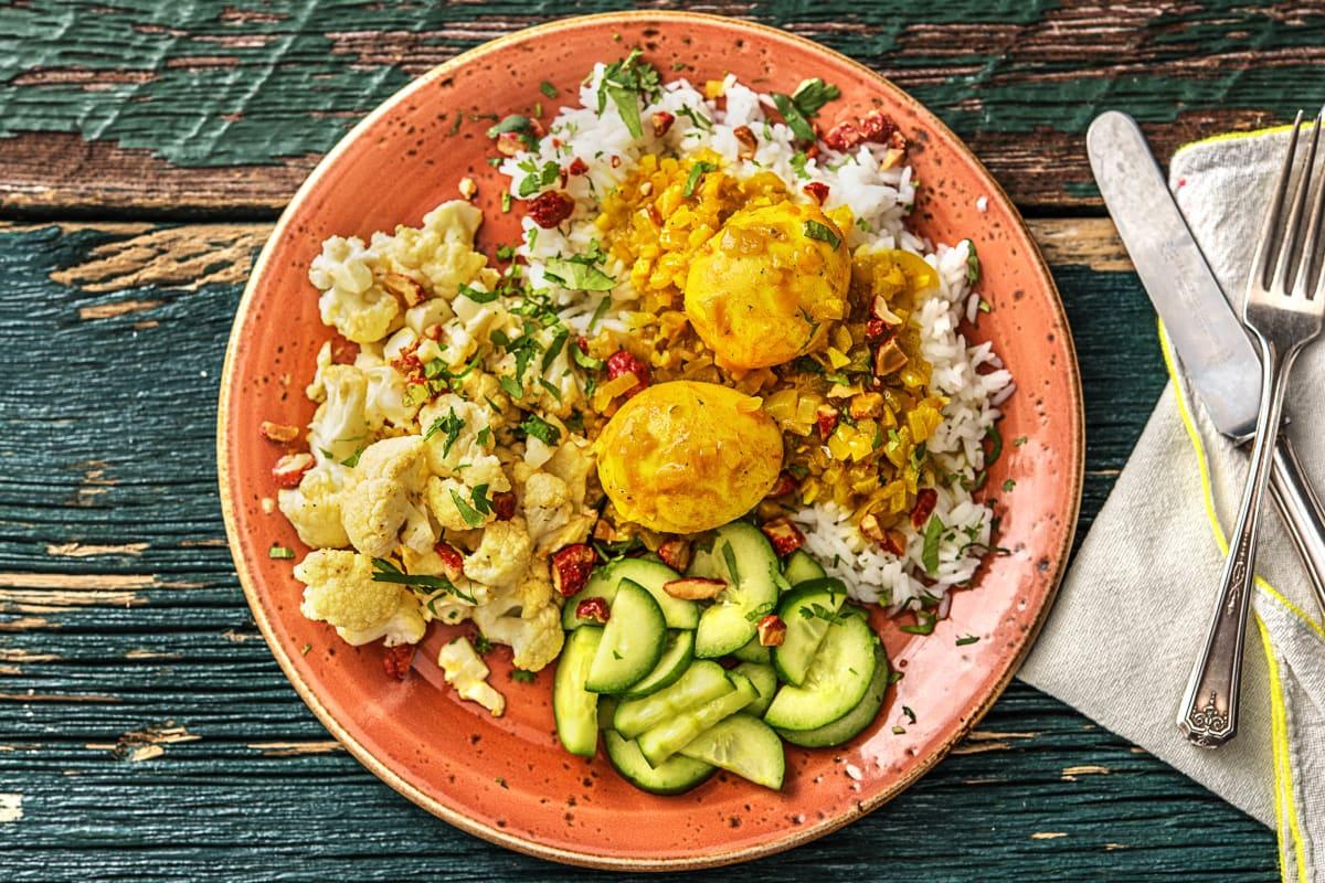Curry aux œufs et au chou-fleur