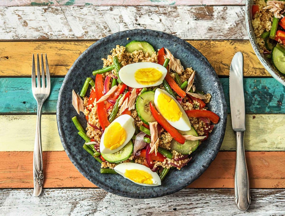 Salade niçoise met volkoren couscous