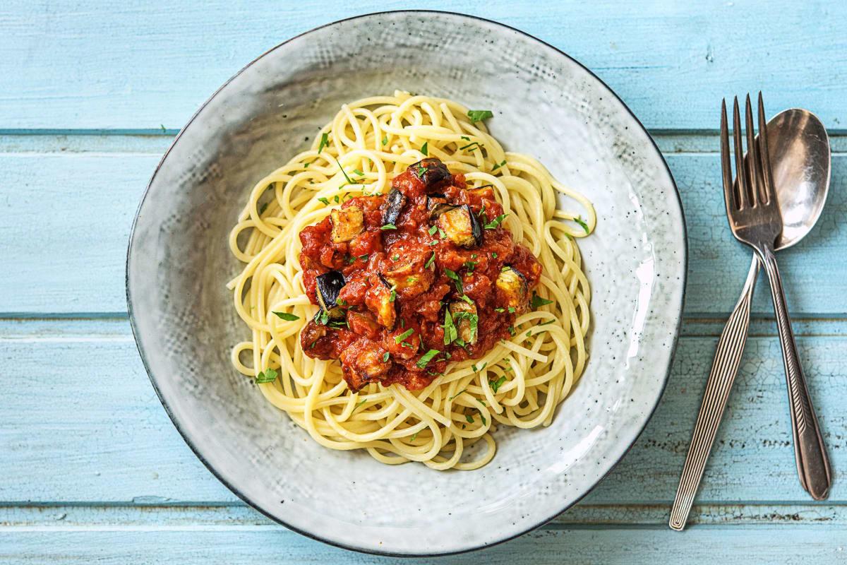 Spaghetti mit würziger Chorizo