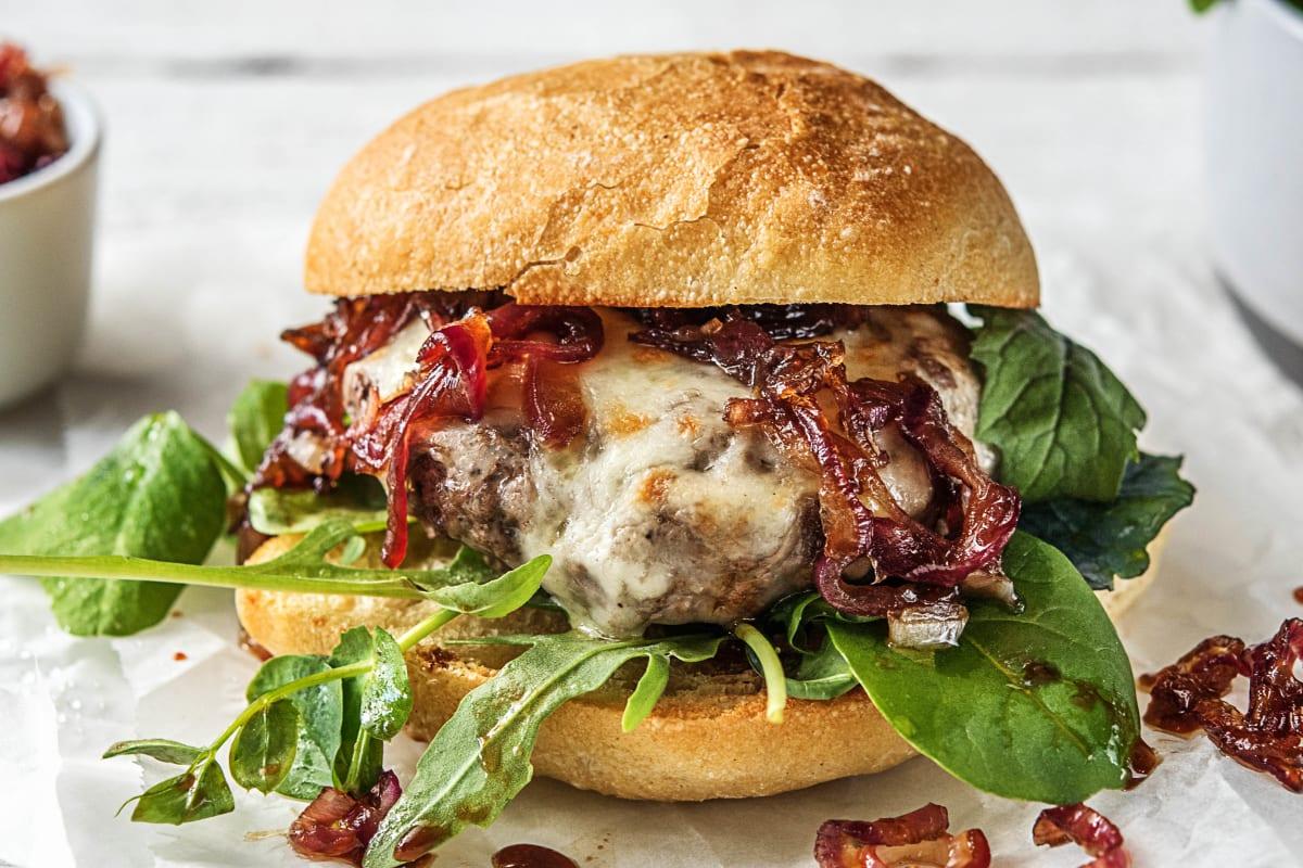 Melty Mozzarella Burgers