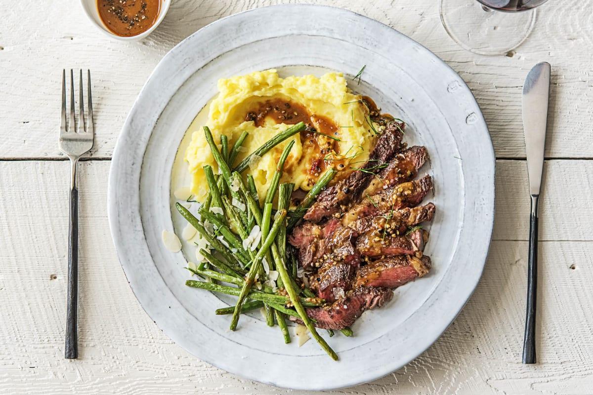Rib-Eye Steak Over Truffled Mashed Potatoes