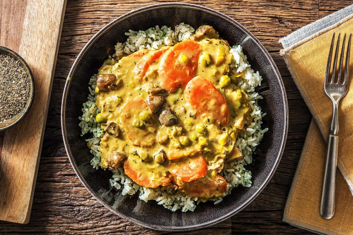 Gemüsefrikasse mit Curry