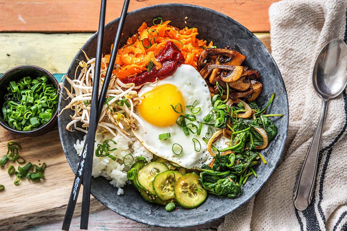 Hello Bibimbap! Koreanische Gemüsebowl