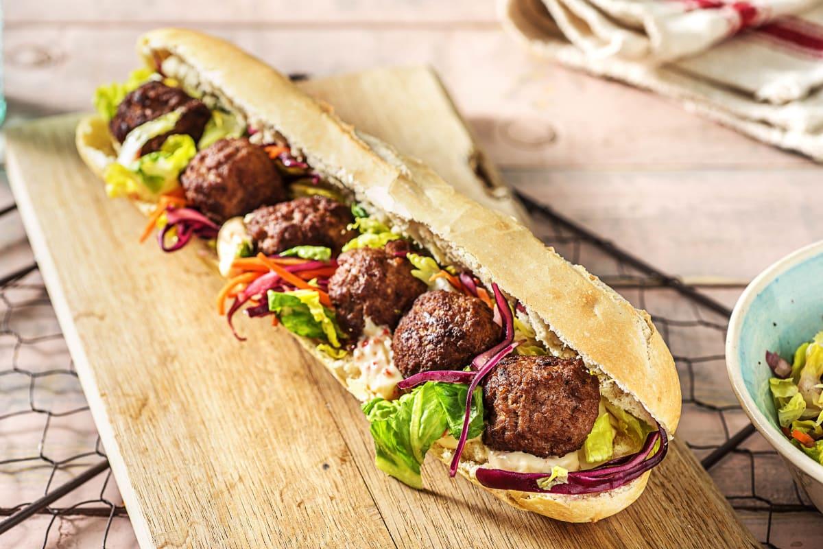 Bánh mì aux boulettes de viande
