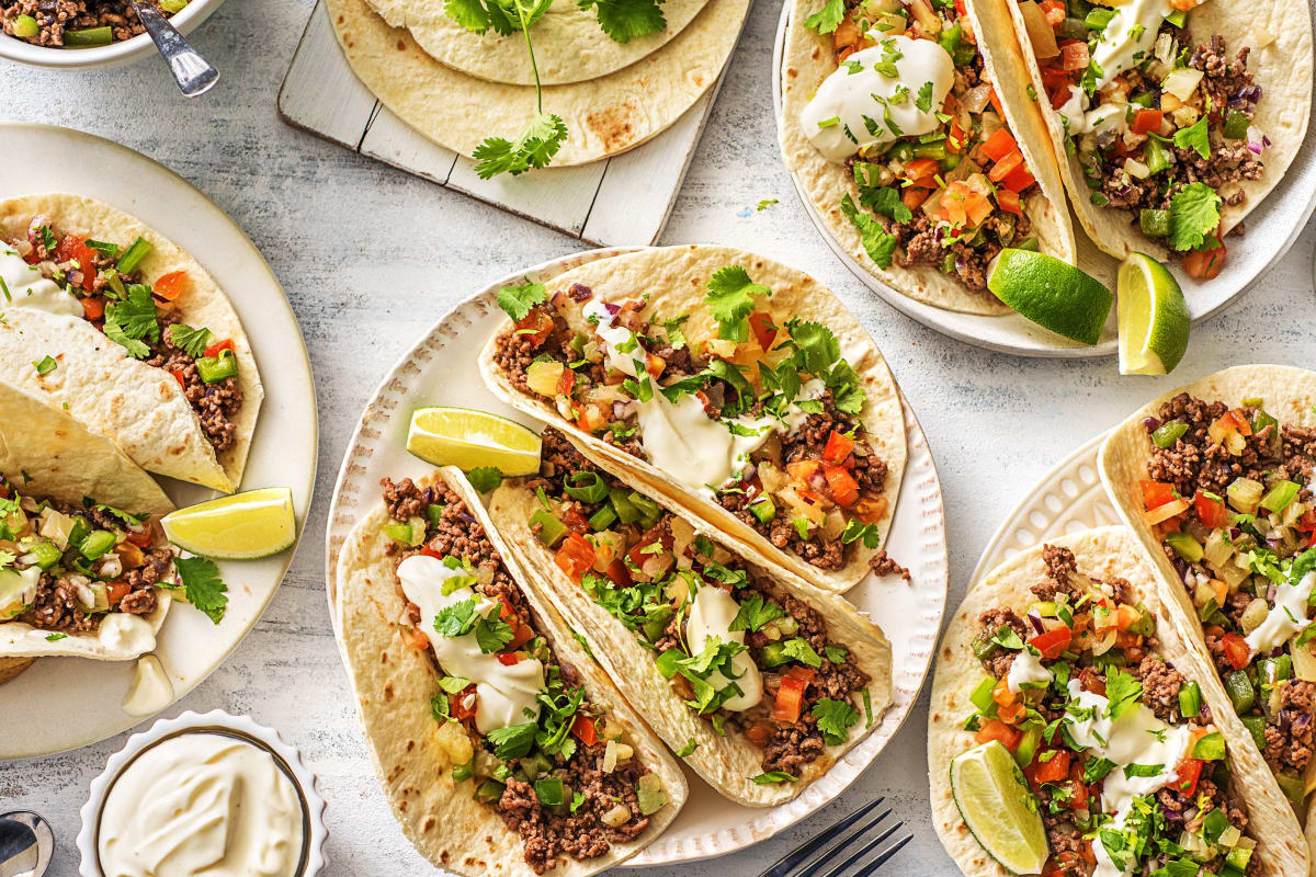 Pineapple Poblano Beef Tacos