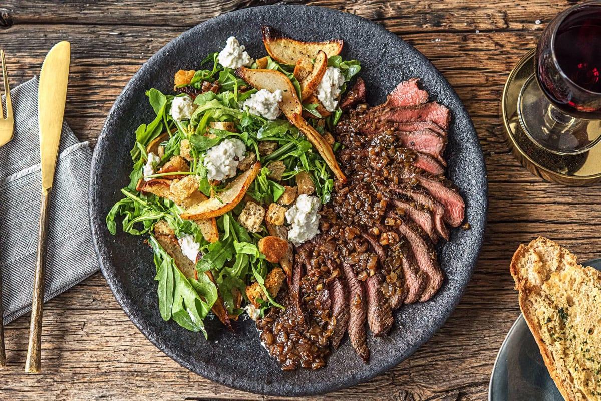 Balsamic Rosemary Strip Steak