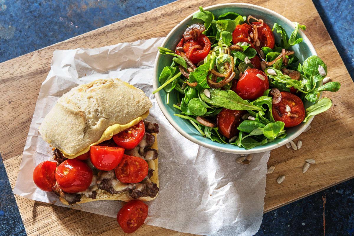 Sandwich au steak et au provolone