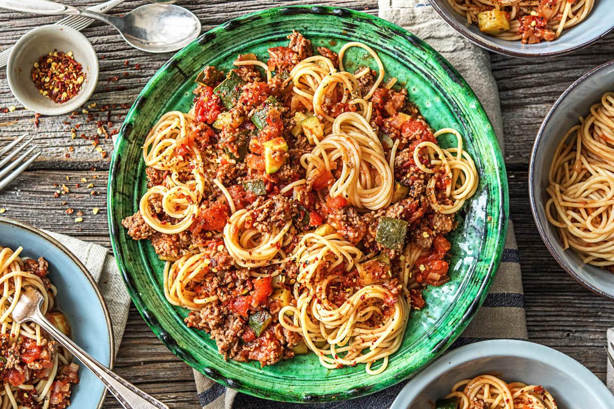 Beef Ragù with Spaghetti Pasta Recipe