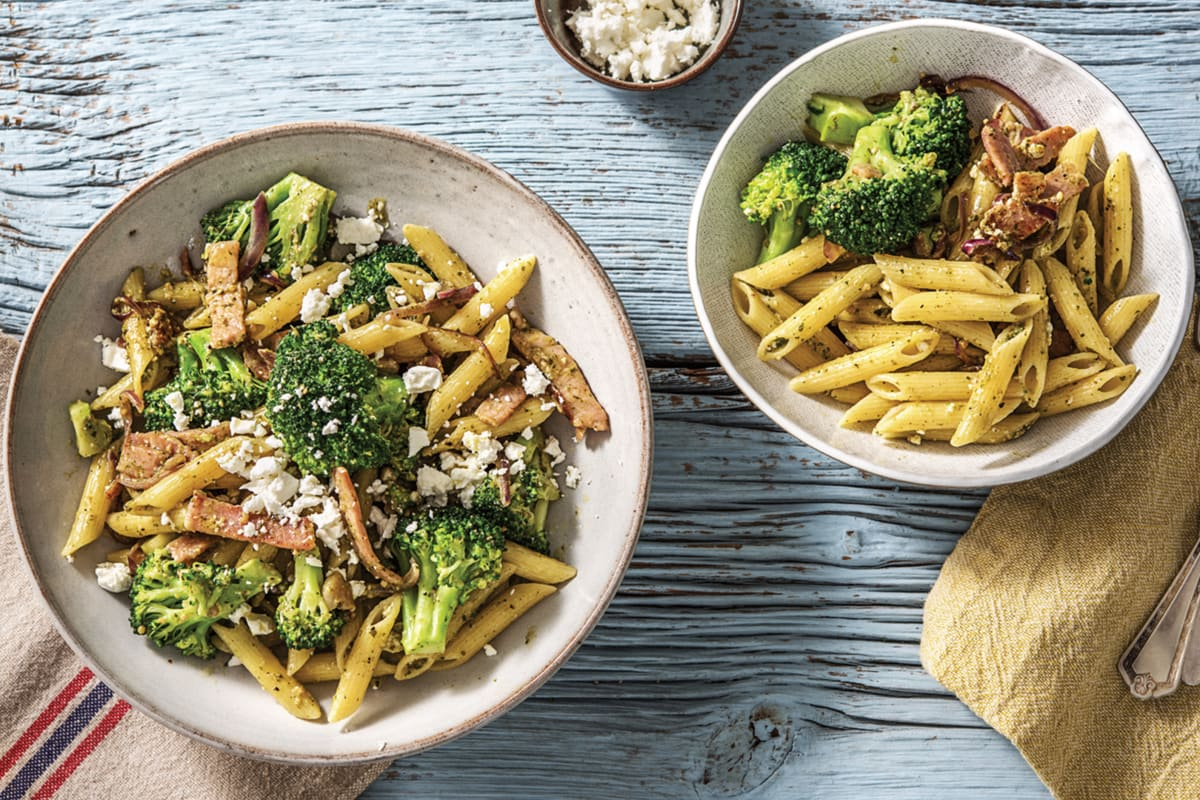 Bacon, Lemon & Pesto Pasta