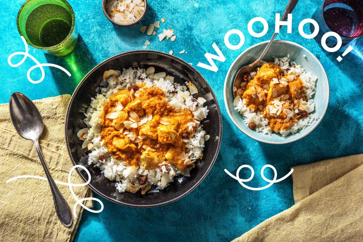 Mildes Hähnchen-Korma-Curry