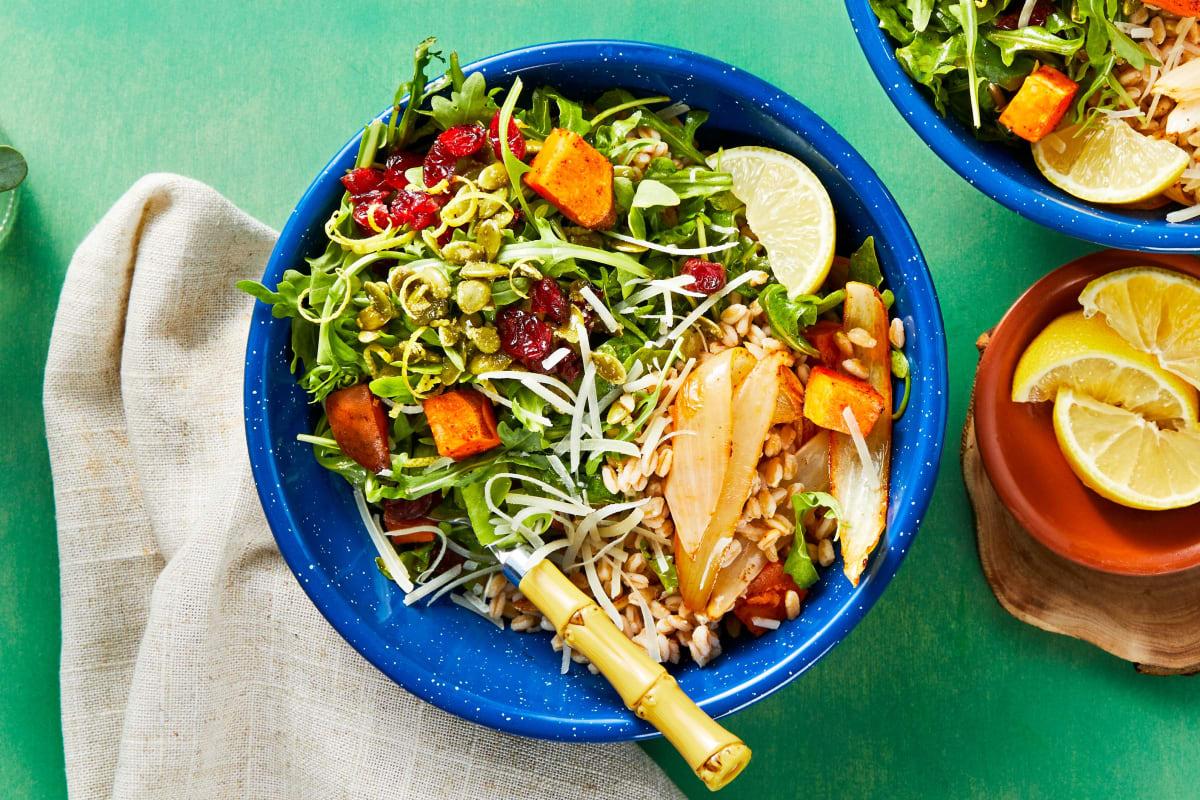 Roasted Veggie Farro Bowl