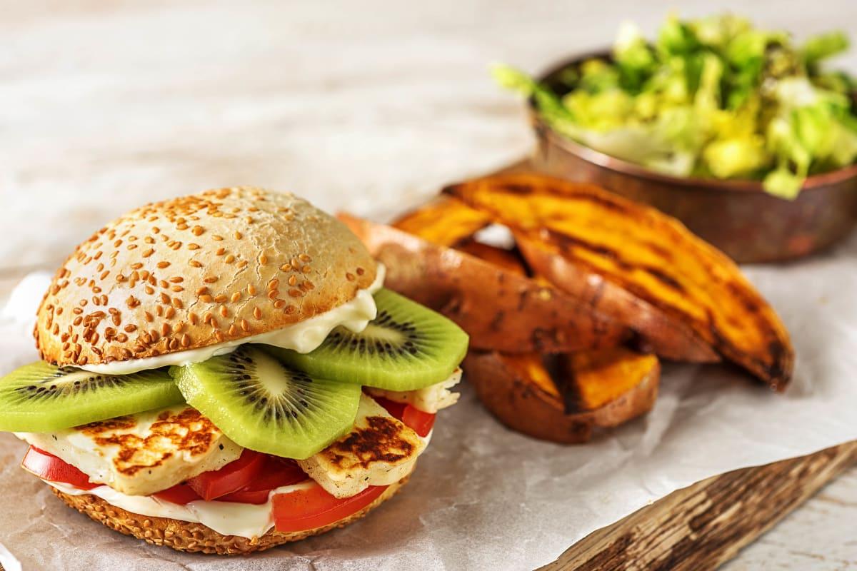 Kiwi-Halloumi-Burger Rezept   HelloFresh
