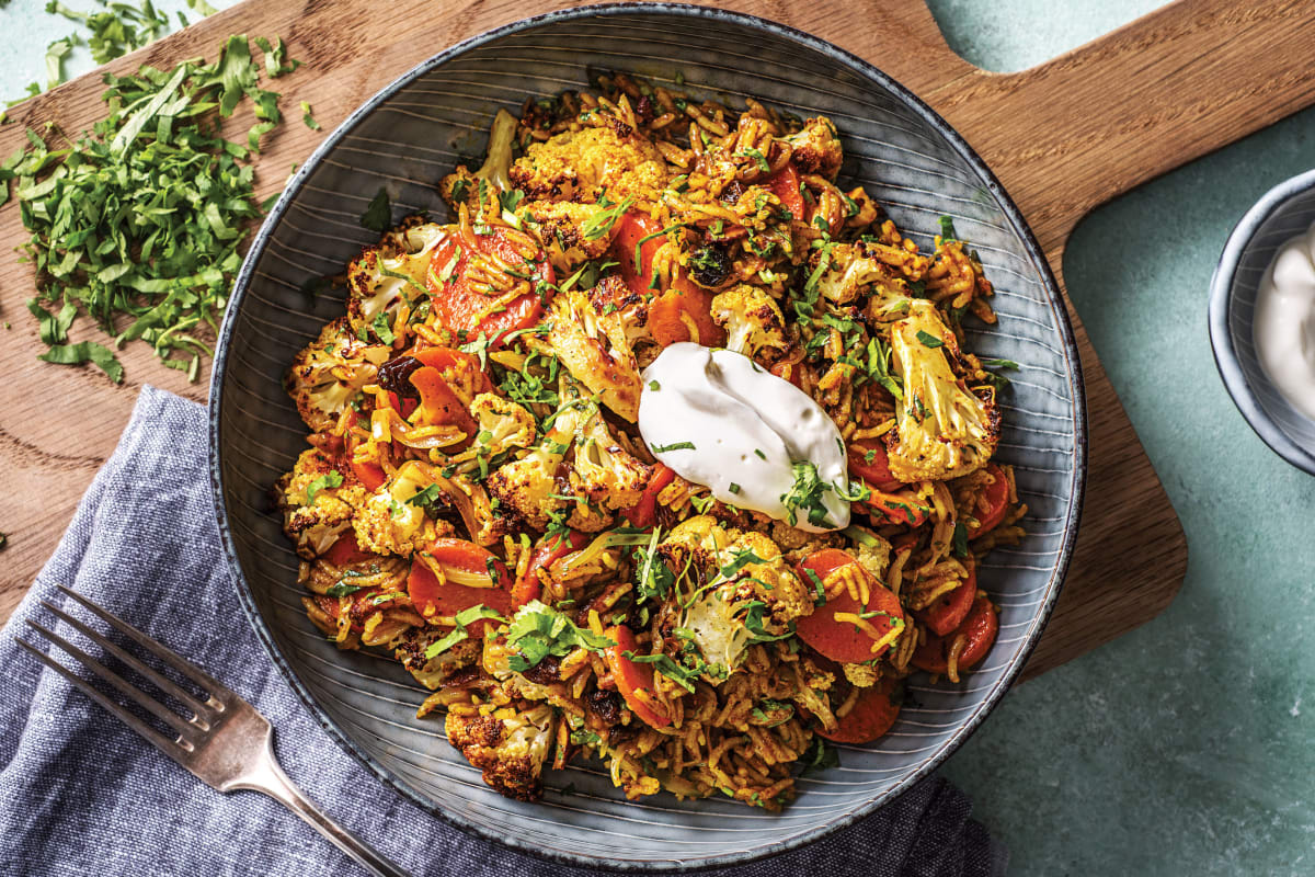 Roast Cauliflower Biryani
