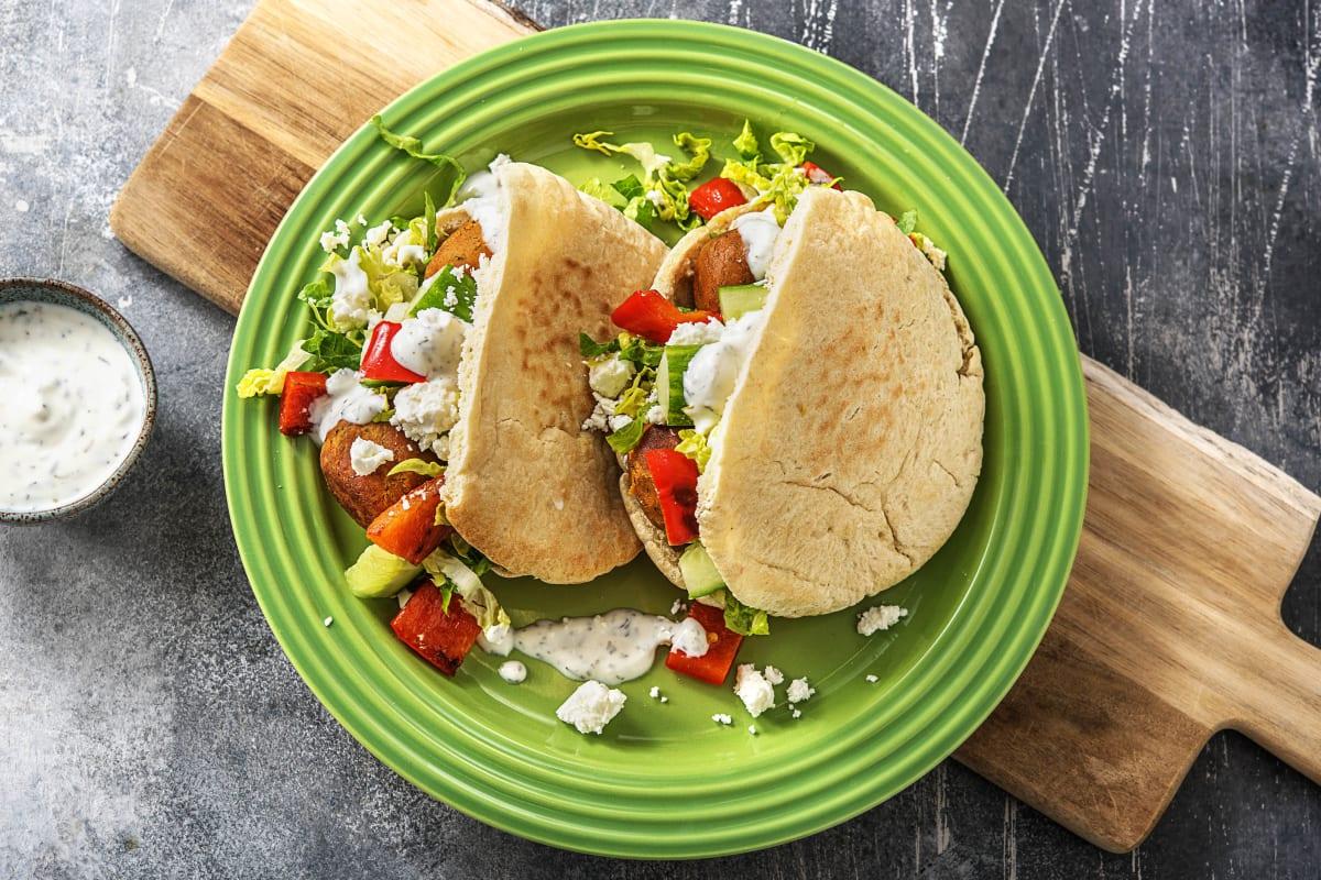 Pita's met falafel en labnedip