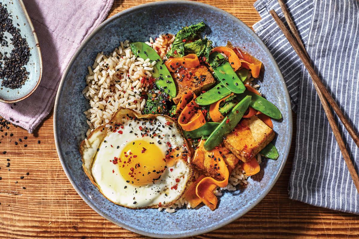 Ginger Tofu & Sweet Chilli Rice Bowl