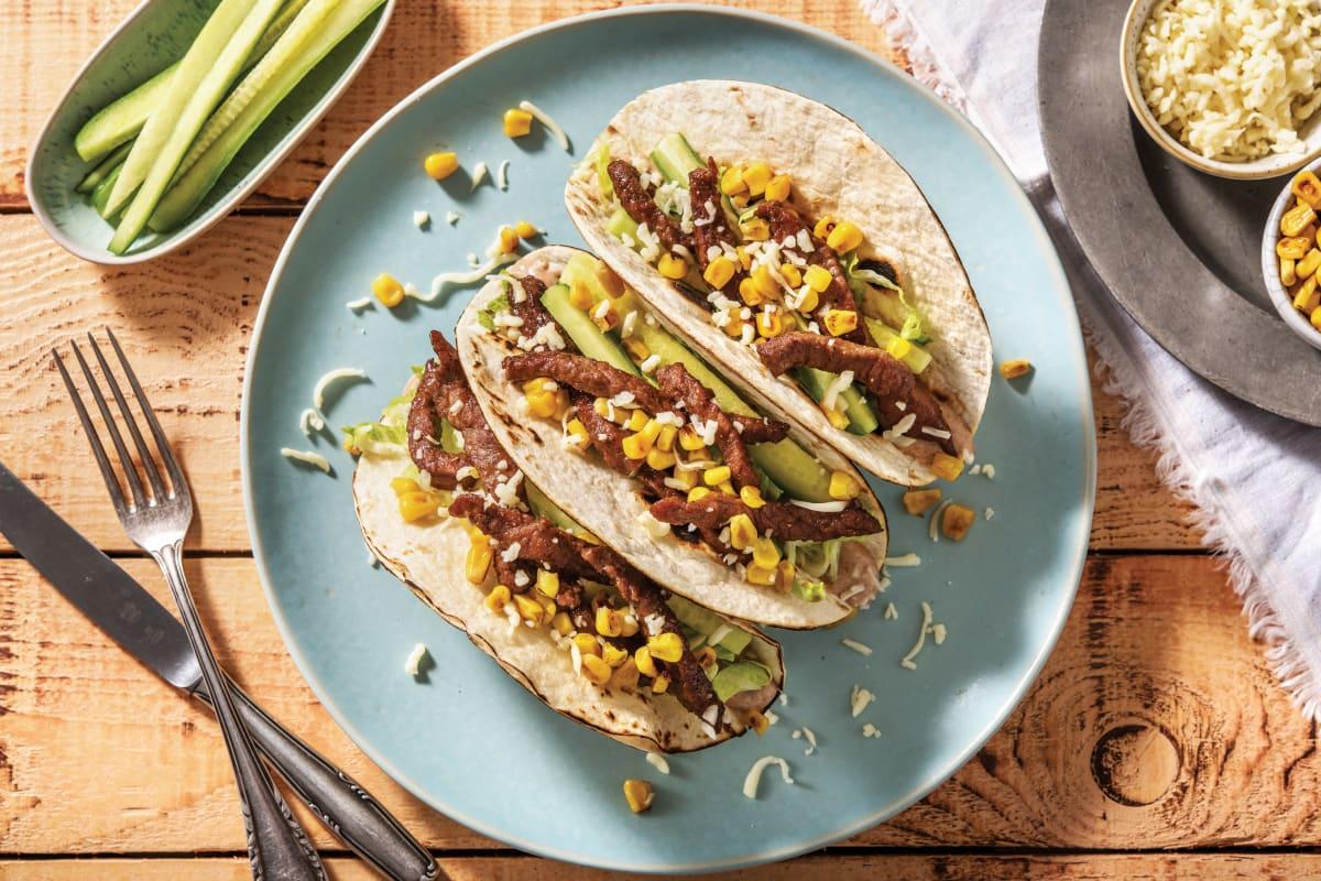 Speedy BBQ Beef Tacos