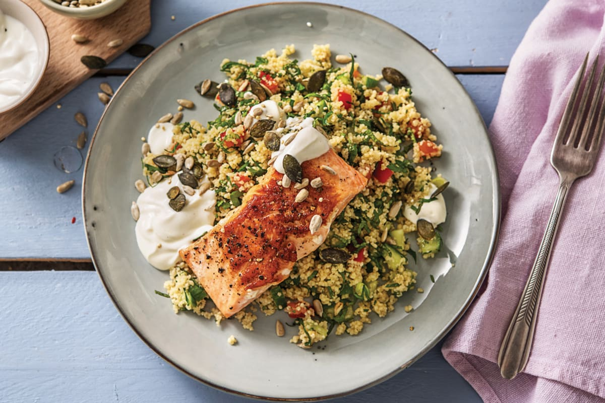 Seared Salmon & Couscous Tabbouleh