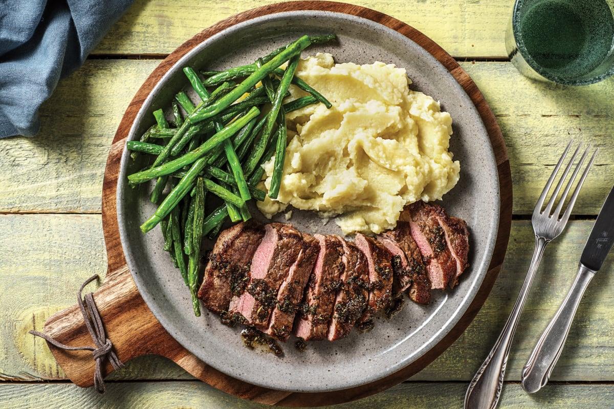 Rosemary Garlic Lamb Steak