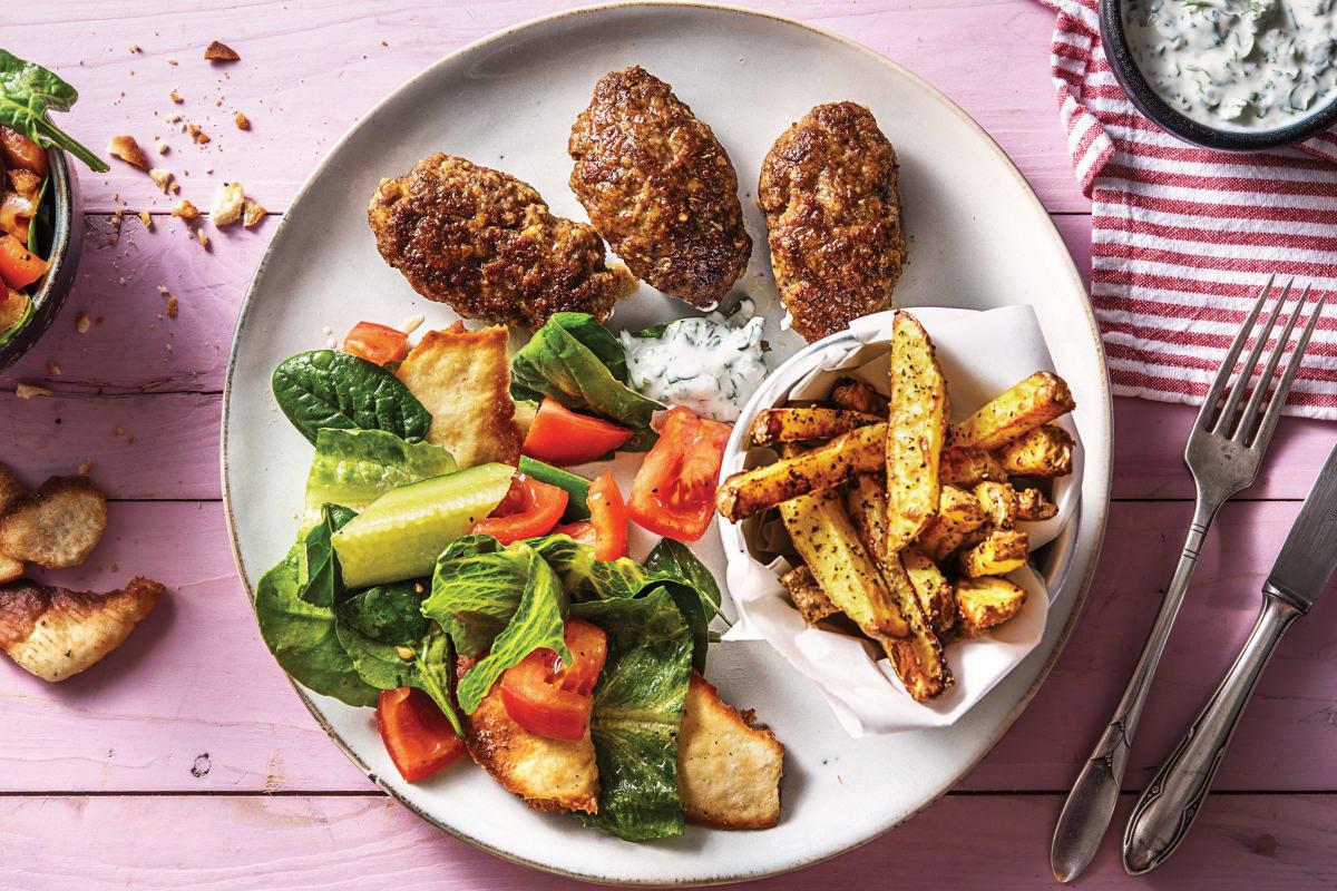 Beef Kofta Mezze Plate