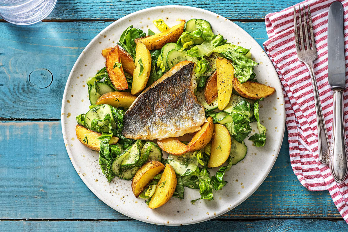 Scandinavische salade met dorade