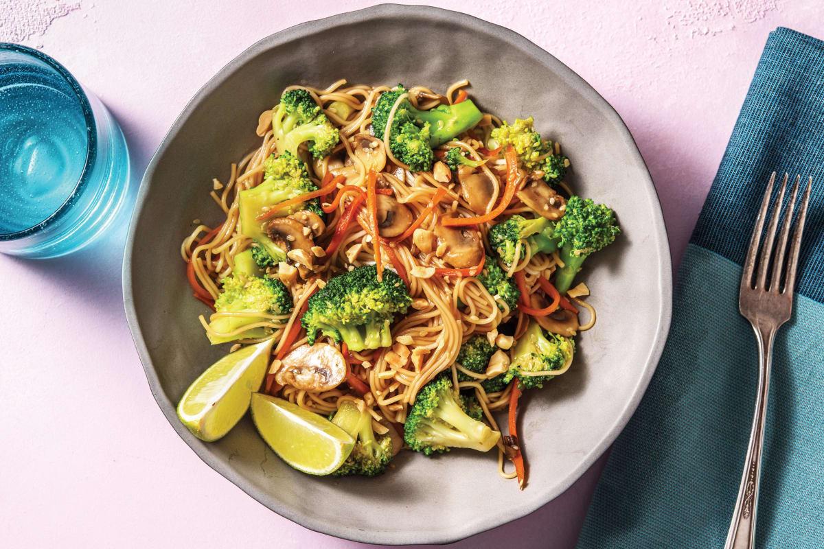 Teriyaki Mushroom Noodle Stir-Fry
