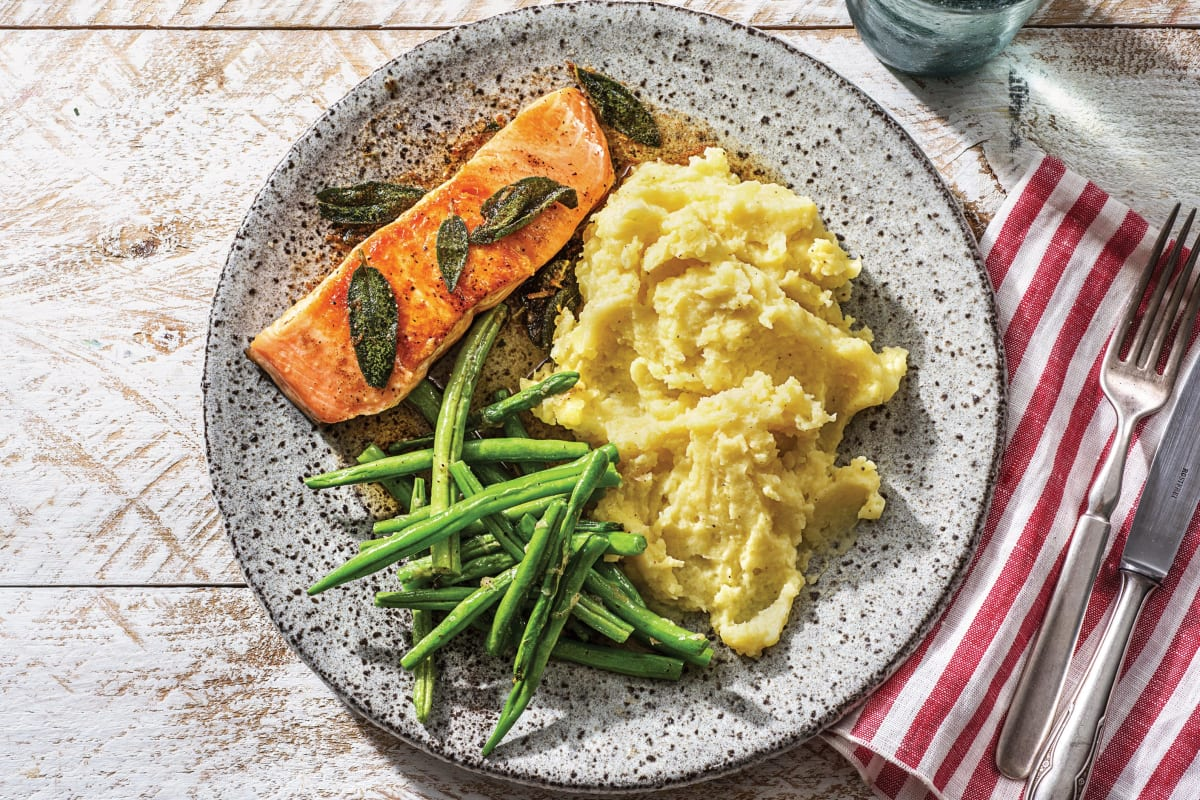 Seared Salmon & Sage Butter