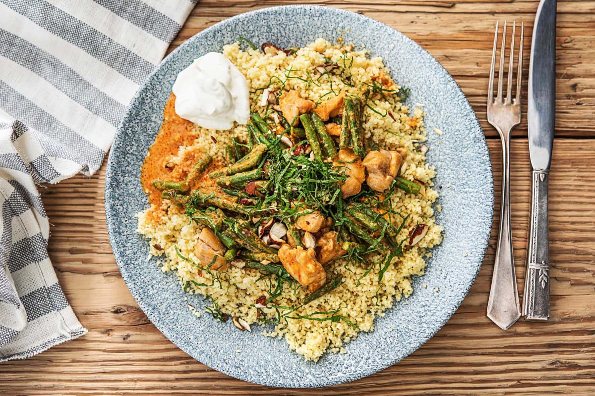 Couscous et poulet au curry