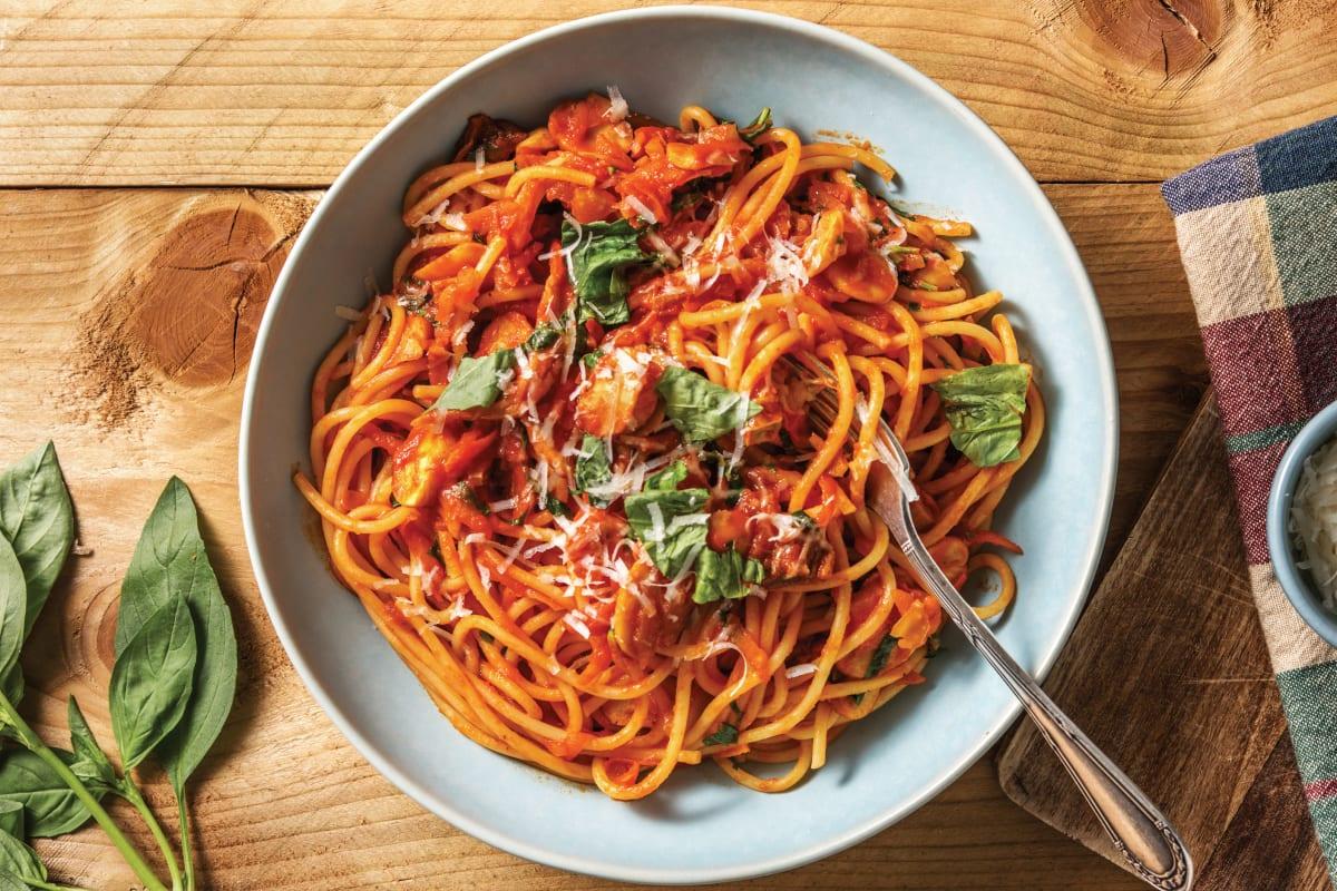 Porcini Mushroom Spaghetti Bolognese